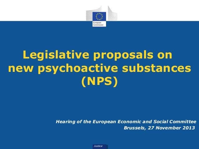 Legislative proposals on new psychoactive substances