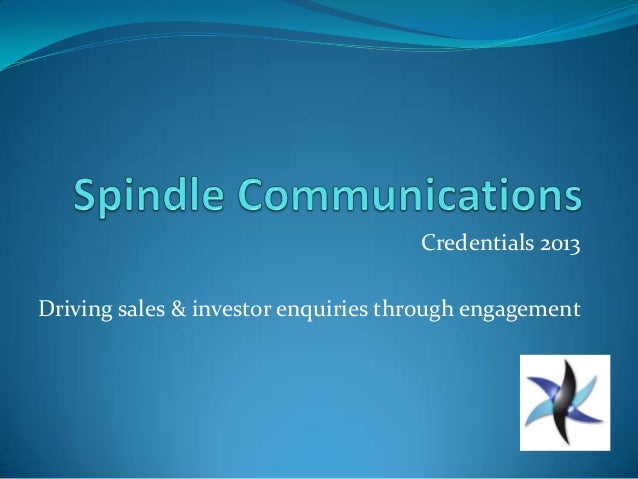 Spindle Communications Credentials