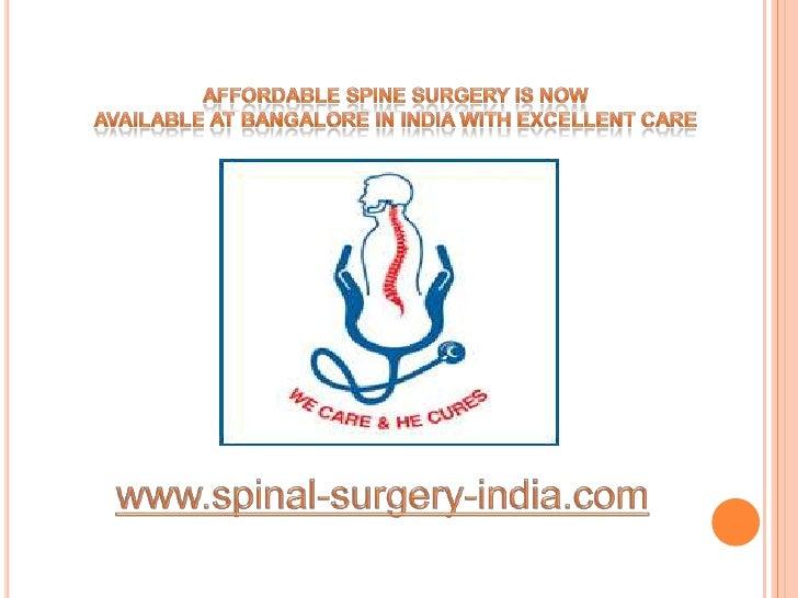 Minimally Invasive Spine Surgery India Bangalore