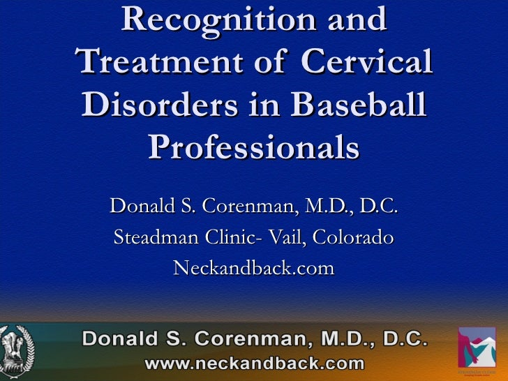 Spine injuries in baseball players   cervical spine injuries   Colorado Spine Surgeon