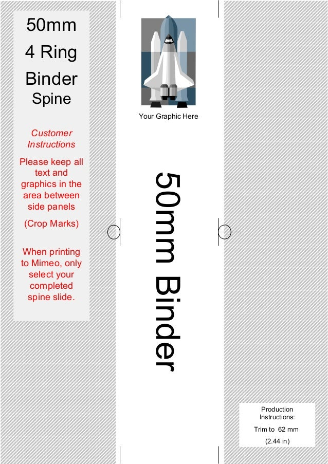 4 inch binder spine template