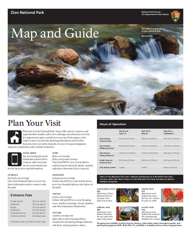 SOCIAL MEDIA Are you looking for more information about Zion? Connect with your park on our social media sites for the lat...