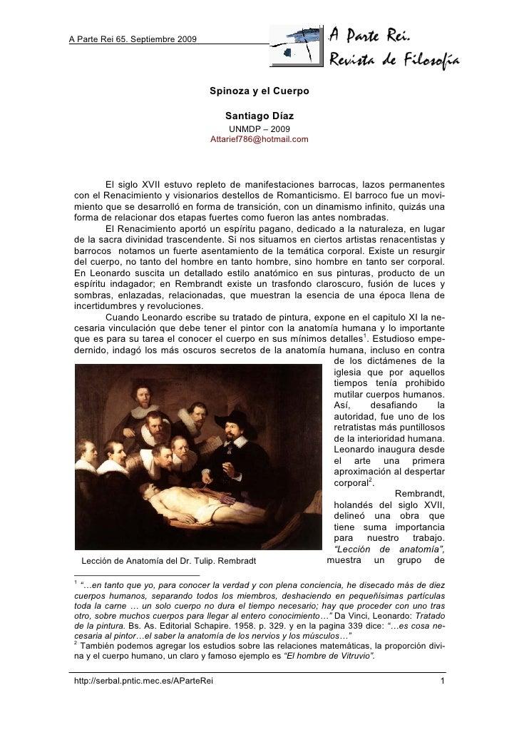 Spinoza y el cuerpo