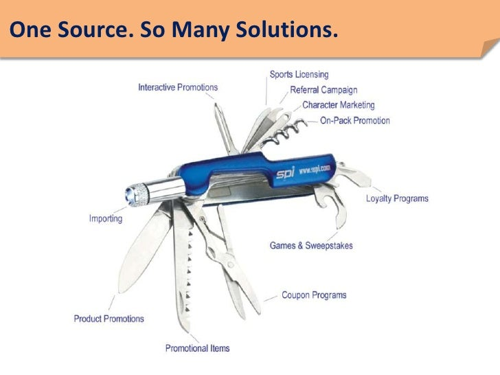 One Source. So Many Solutions.<br />