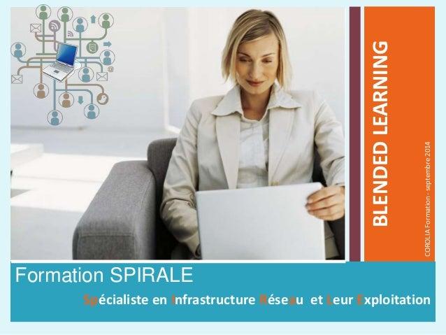 Formation SPIRALE Spécialiste en Infrastructure Réseau et Leur Exploitation BLENDEDLEARNING COROLIAFormation-septembre2014