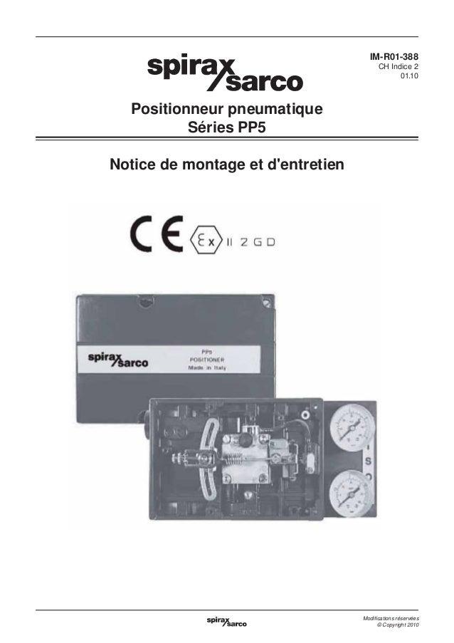 IM-R01-388 CH Indice 2 01.10  Positionneur pneumatique Séries PP5 Notice de montage et d'entretien  Modifications réservées...