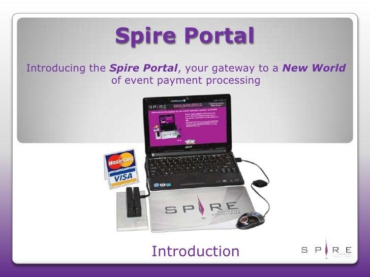 Spire Portal Introduction