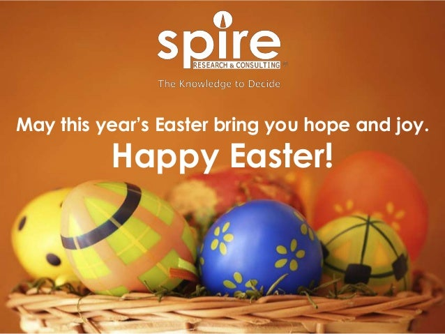 May this year's Easter bring you hope and joy. Happy Easter!