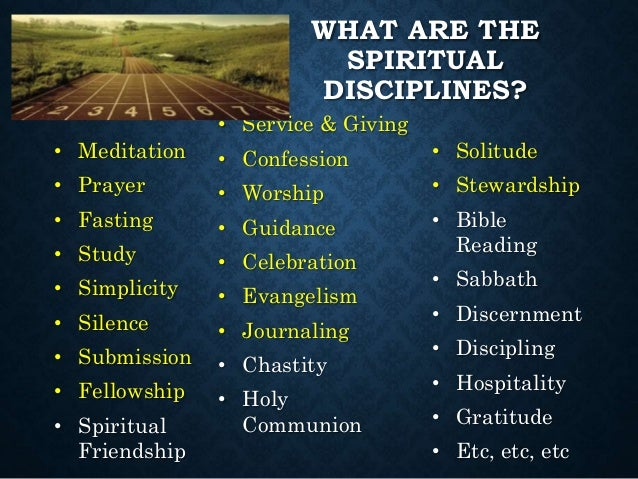 """the definition and examples of spiritual disciplines Steeped in scripture and illuminated by quotes and examples from church history, """"spiritual disciplines for the christian life"""" is a profound but pastoral guide on how to train yourself in godliness."""