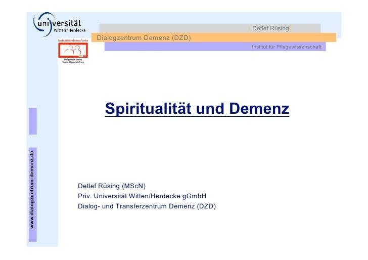 NPK2011: Spiritualität und Demenz