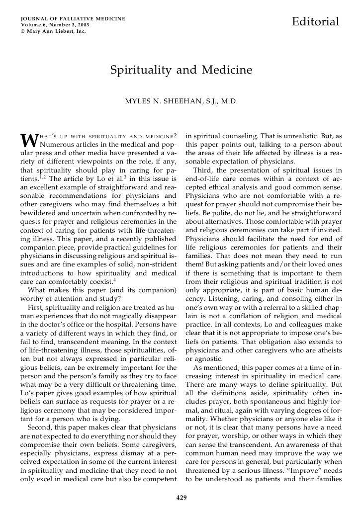 JOURNAL OF PALLIATIVE MEDICINE Volume 6, Number 3, 2003                                                                   ...