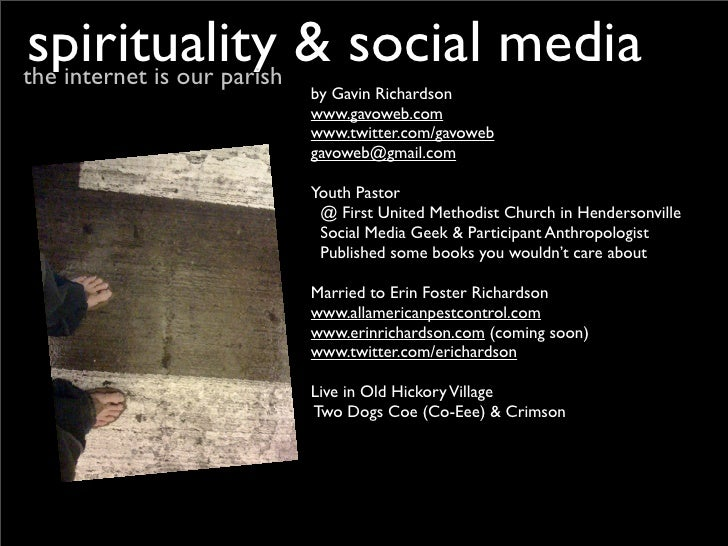 spirituality & social media : the internet is our parish