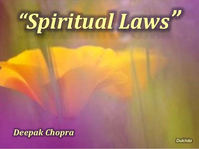 """Spiritual Laws"" Deepak Chopra Duklida"