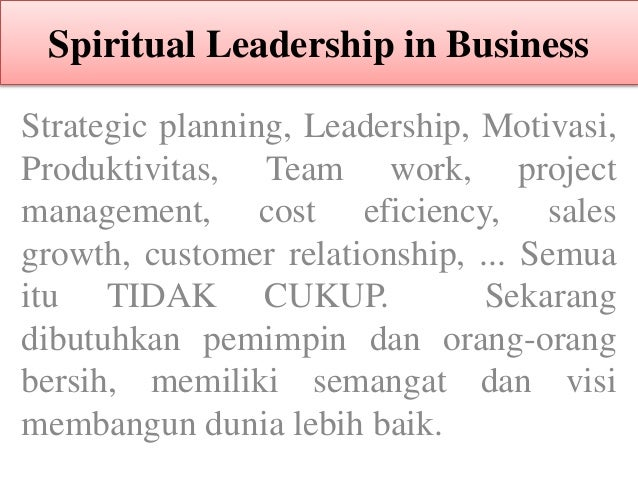 Spiritual leadership in business2