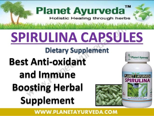 SPIRULINA CAPSULES Best Anti-oxidant and Immune Boosting Herbal Supplement Dietary Supplement