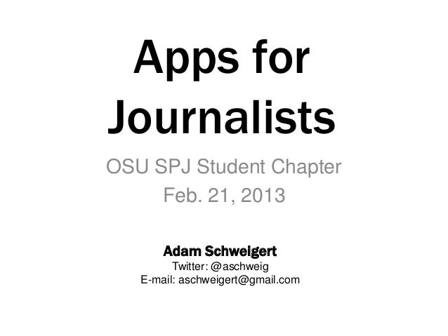 Apps For Journalists