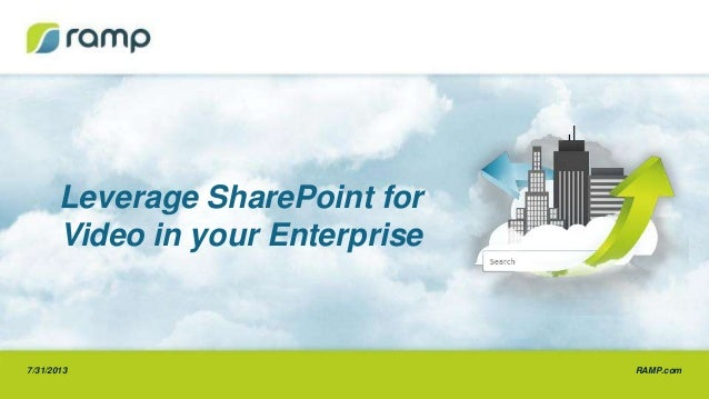 RAMP.com7/31/2013 Leverage SharePoint for Video in your Enterprise