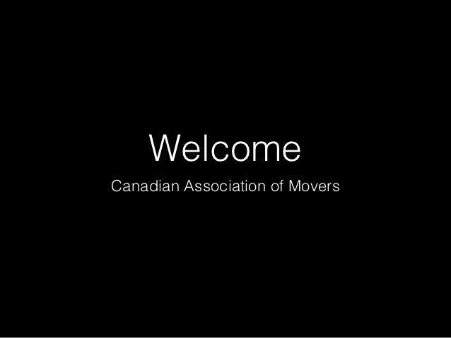 WelcomeCanadian Association of Movers