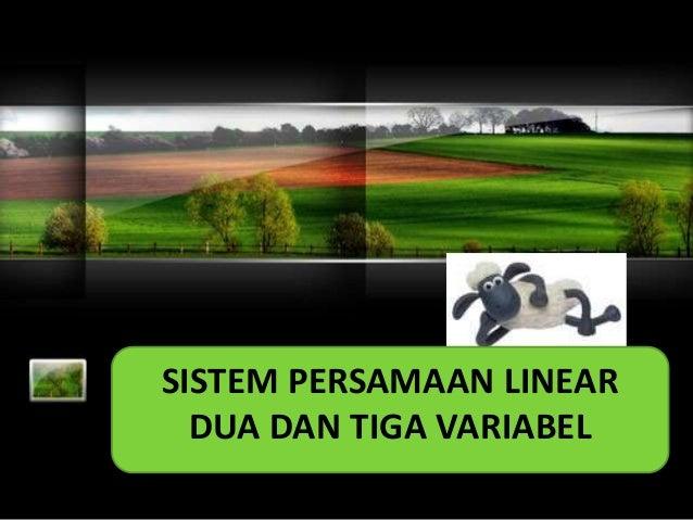 Sistem Persamaan Linear dua variable