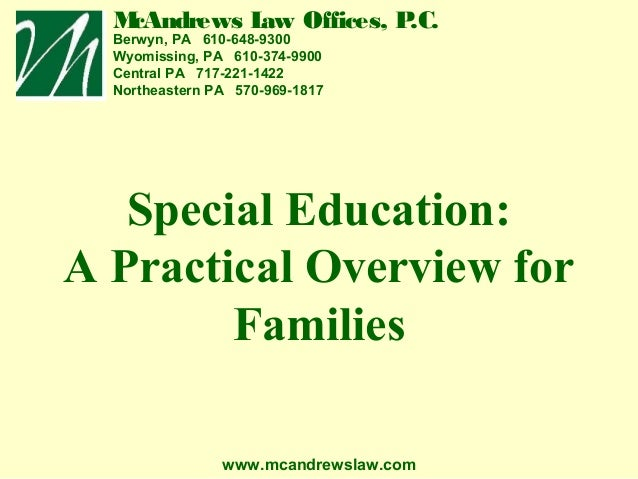 Special Education Overview (Chester)