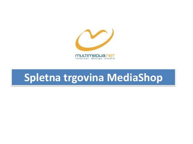 Spletna trgovina MediaShop
