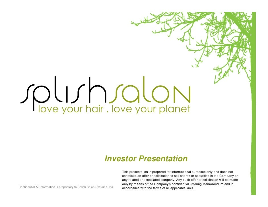 Investor Presentation                                                                             This presentation is pre...