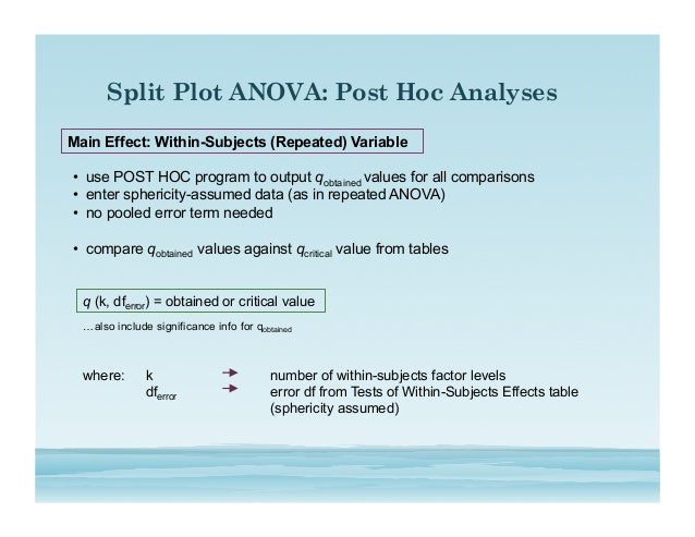 ancova offers post hoc statistical control provide an example