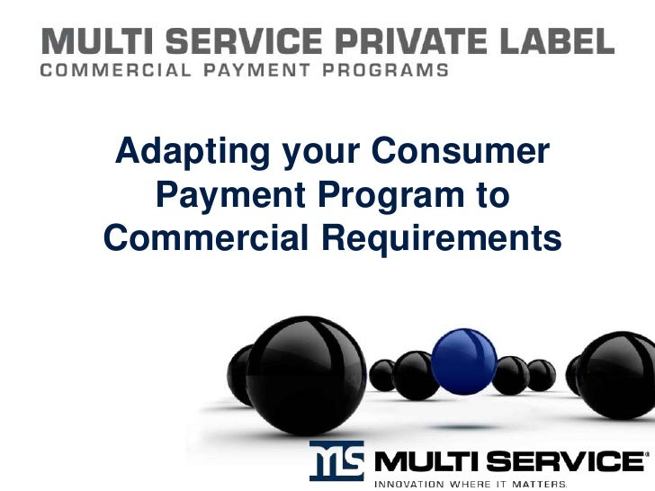 Adapting a Consumer Payment Program to Fit Commercial Requirements