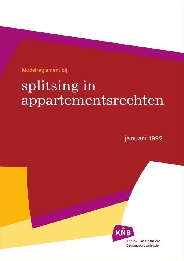 Splitsingsreglement 1992