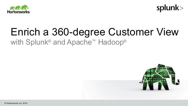 Enrich a 360-degree Customer View with Splunk® and Apache™ Hadoop®  © Hortonworks Inc. 2014