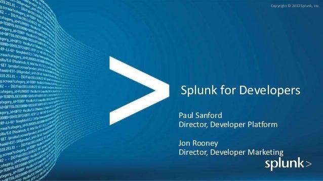 SplunkLive! Developer Breakout