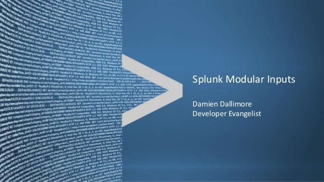 Splunk Modular Inputs / JMS Messaging Module Input