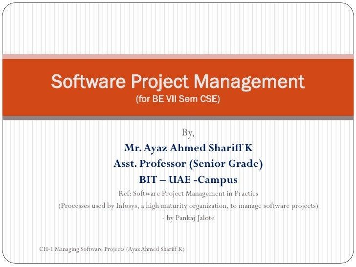 Software Project Management                                   (for BE VII Sem CSE)                                        ...