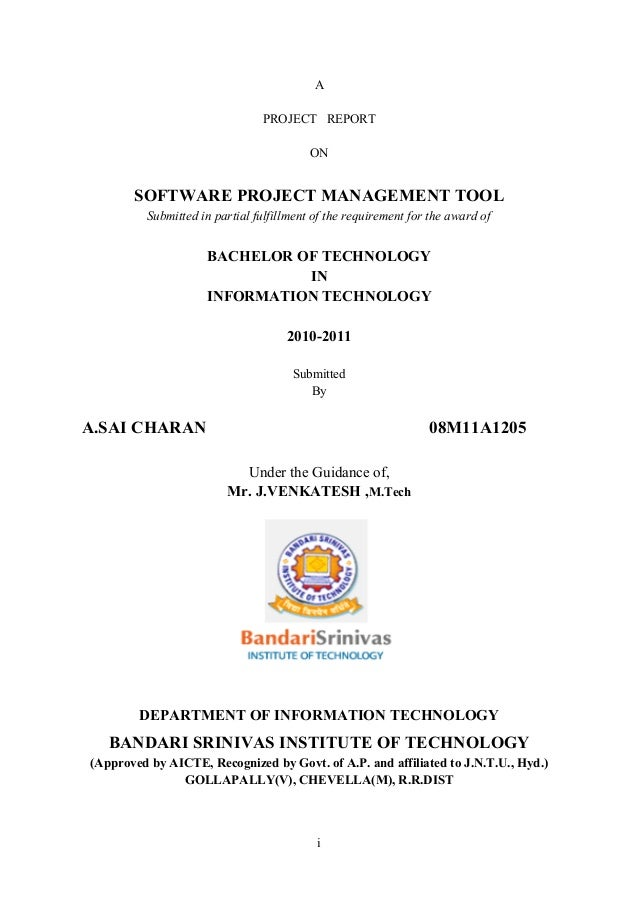 SOFTWARE PROJECT MANAGEMENT TOOL Project Report