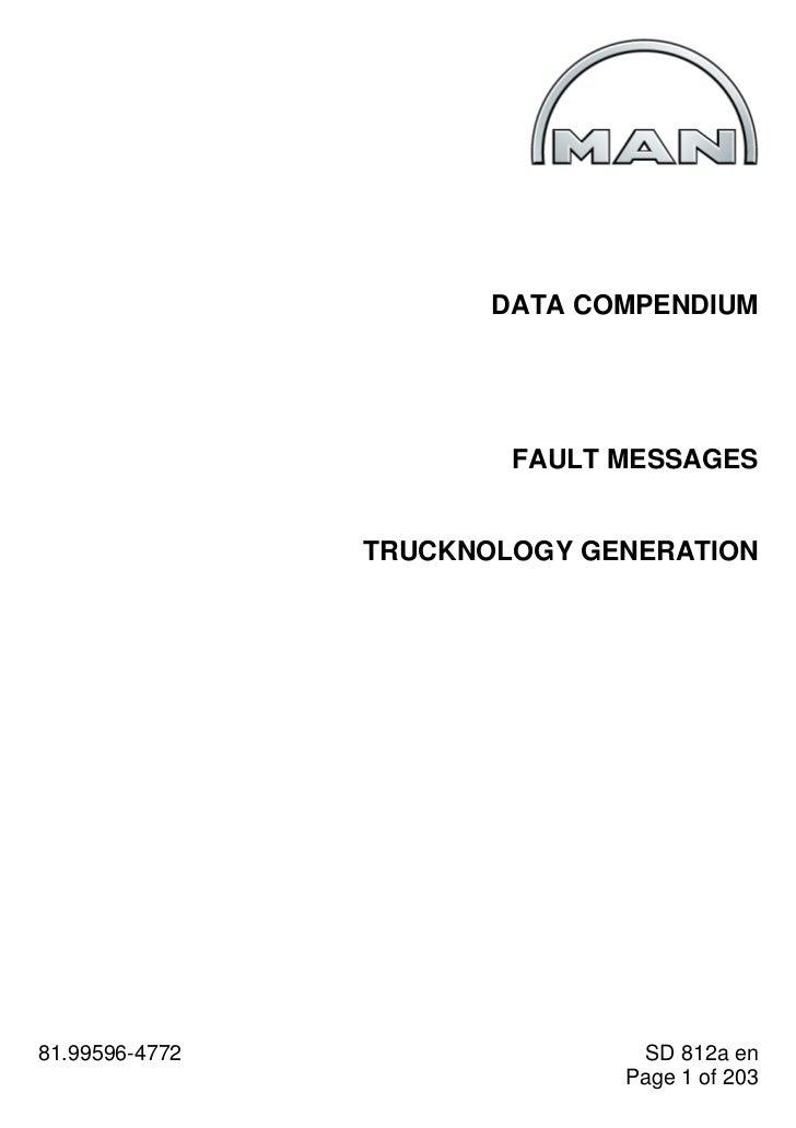 DATA COMPENDIUM                        FAULT MESSAGES                TRUCKNOLOGY GENERATION81.99596-4772                  ...