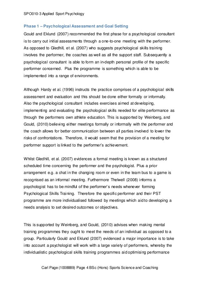 thomas model applied to sports enhancement essay Imagery for sport performance: a comprehensive literature imagery for sport performance: a development of applied models in the field of sport psychology.