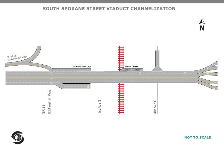 SOUTH SPOKANE STREET VIADUCT CHANNELIZATION<br />NOT TO SCALE<br />