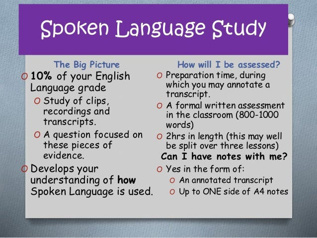 Spoken Language Study - GCSE English Revision - YouTube
