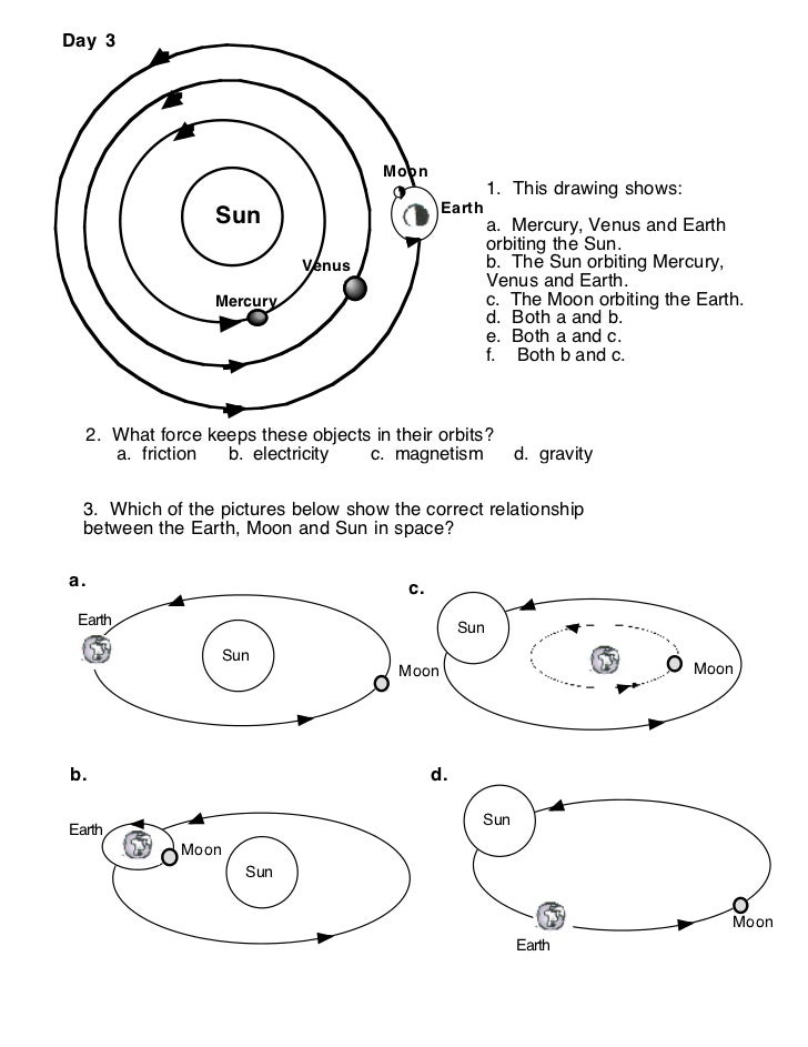 sun moon earth model worksheet page 4 pics about space. Black Bedroom Furniture Sets. Home Design Ideas