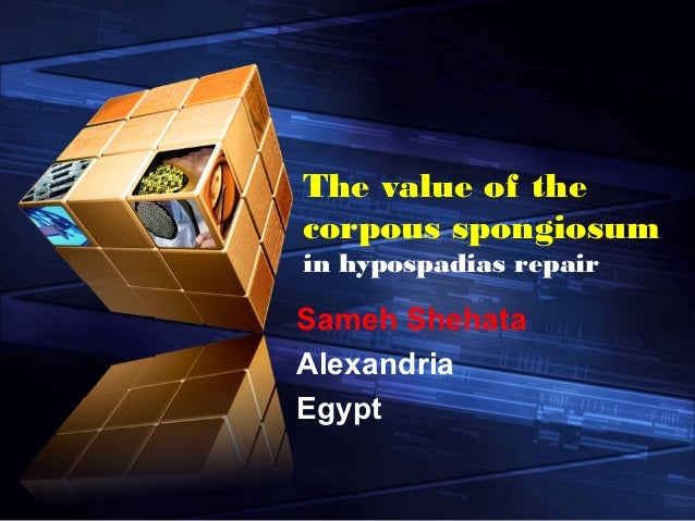 The value of thecorpous spongiosumin hypospadias repairSameh ShehataAlexandriaEgypt