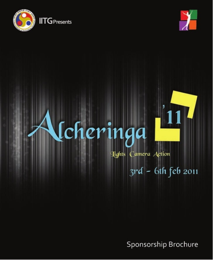 Alcheringa ,Sponsership  brochure 2011
