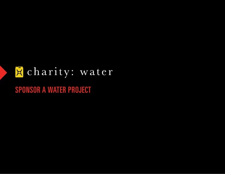 SPONSOR A WATER PROJECT
