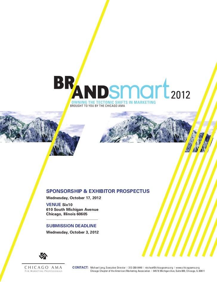 BrandSmart 2012 Sponsor Packages