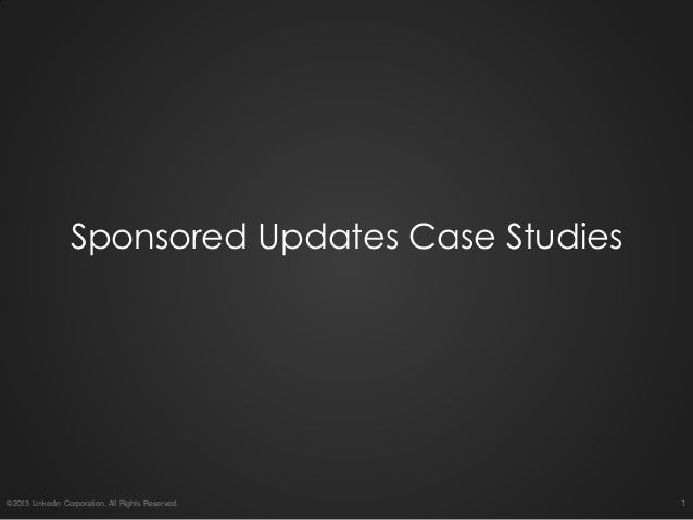 Sponsored Updates Success Stories