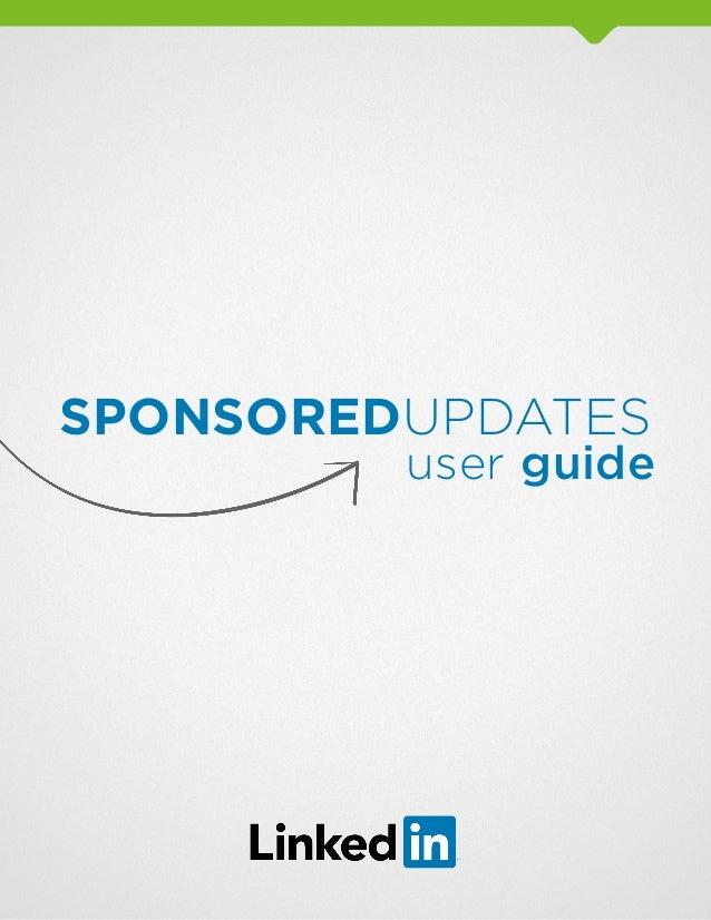 Sponsored updates user guide