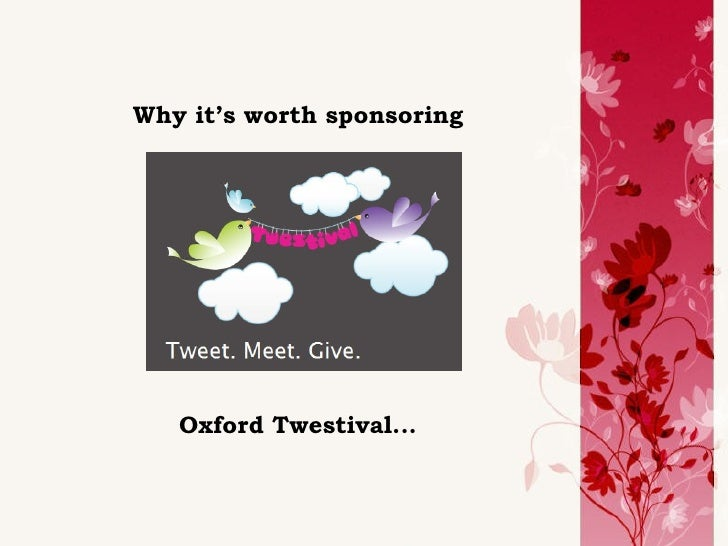 Why it's worth sponsoring Oxford Twestival...