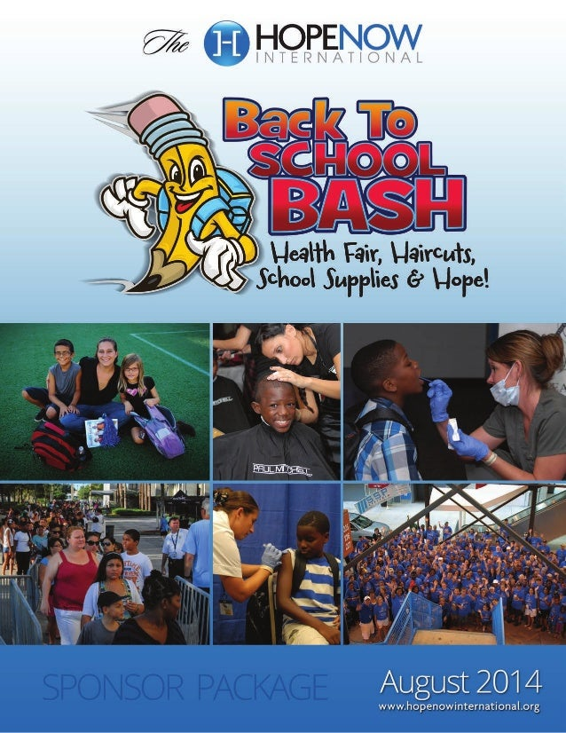 Sponsor package hope now international back to school bash charity event 2014 1b