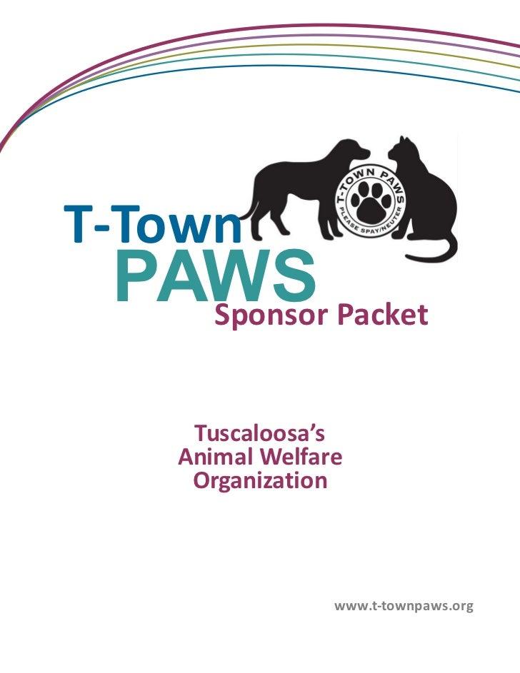 T-Town PAWS Sponsorship Packet