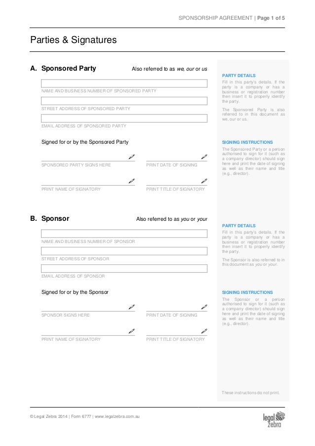sponsorship agreement blank template | novaondafm.tk