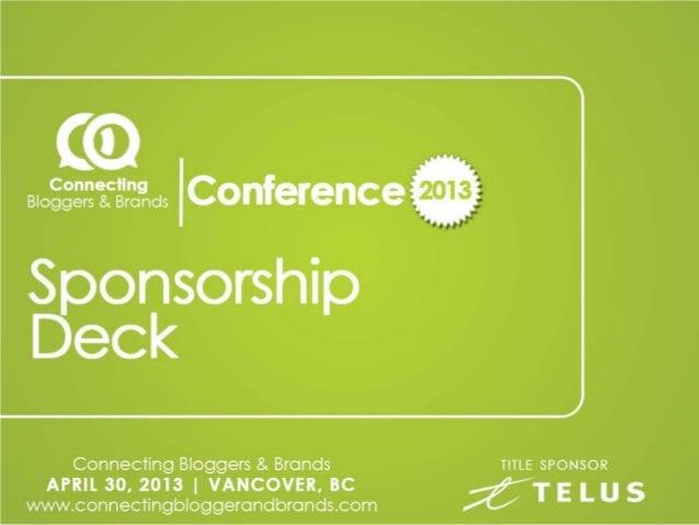 Sponsorship deckconnectingbloggersandbrandsmarch11
